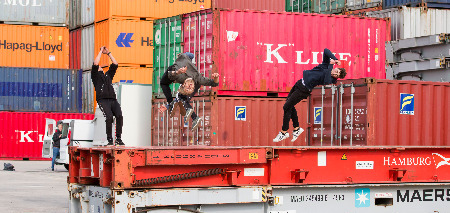 Freerun-show-bij-open-dag-in-Gorinchem
