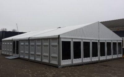 Aluminium tent - 10 meter breed