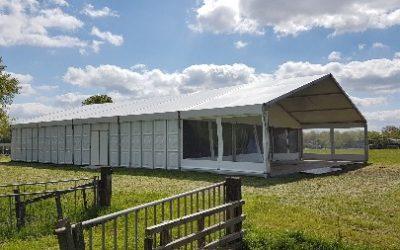 Aluminium tent - 15 meter breed