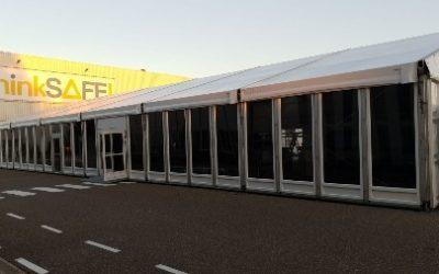 Aluminium tent - 15 meter breed - tenten