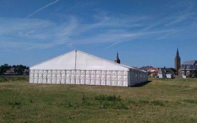 Aluminium tent - 20 meter breed