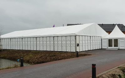 Aluminium tent - 20 meter breed - tenten