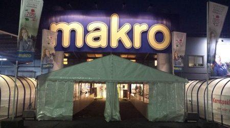 Aluminium tent - 8 meter breed