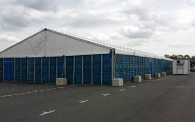Grote werktent op locatie - Tenten