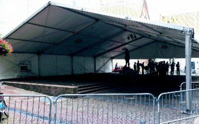 Werktent aluminium op locatie - Tenten