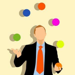 jongleren met 3 of meer ballen