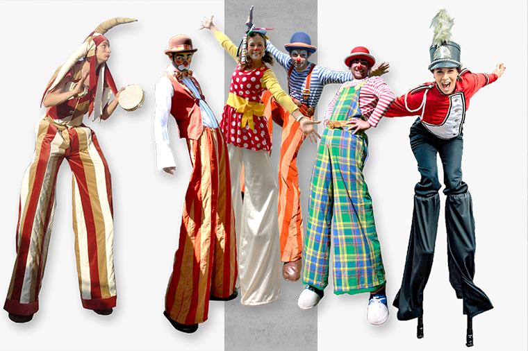 Entertainmens-Steltloper-Circusartiest