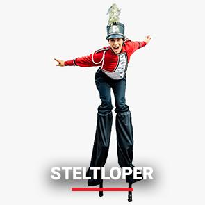 Entertainmens-Steltloper-artiest