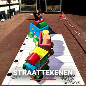 Entertainmens-Straattekenen-Straattekening
