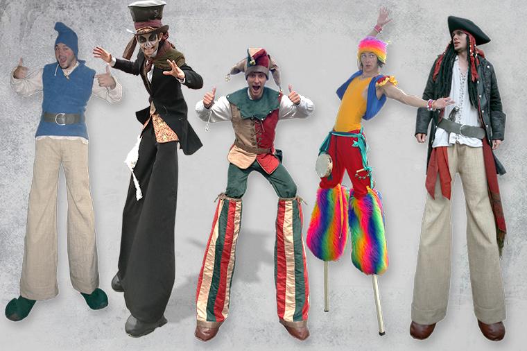 Entertainmens-steltloper-in-thema